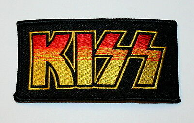 Classic Kiss Rock Band Logo Music Concert Iron-on Patch New NOS unused