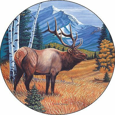 Elk Spare Tire Cover Wheel Cover Jeep RV Camper & more(all sizes available)