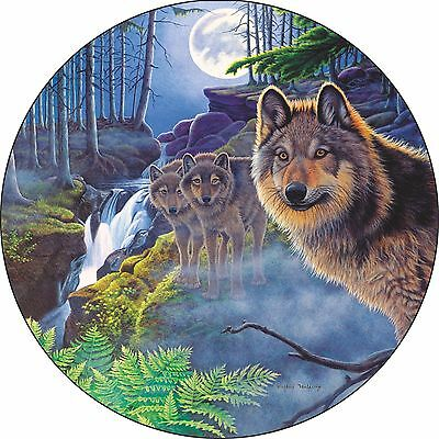 Wolf #2 Mystical moonlight Spare Tire Cover Jeep RV Camper VW etc(all sizes)