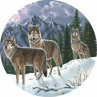Wolf #4 Untamed spirit Spare Tire Cover Jeep RV Camper VW etc(all sizes avail)