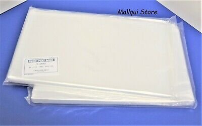 200 CLEAR 11 x 14 POLY BAGS PLASTIC LAY FLAT OPEN TOP PACKING ULINE BEST 1 MIL