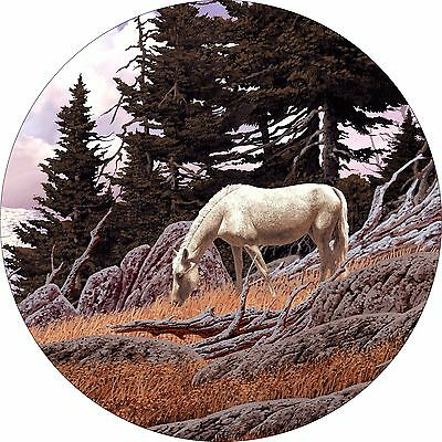 Horse #10 mountain grazing Spare Tire Cover Jeep RV Camper Trailer etc(all sizes