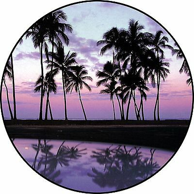 Sunset #1 Spare Tire Cover Jeep RV Camper Trailer etc(all sizes available)