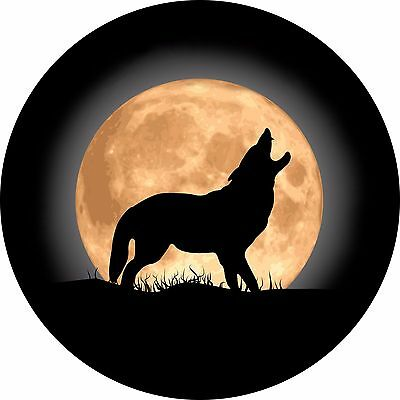 Wolf And Moon Spare Tire Cover Jeep RV Camper VW Trailer et(all sizes available)