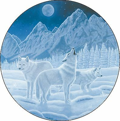 Wolf #1 Guardian of Night Spare Tire Cover Jeep RV Camper VW etc(all sizes avail