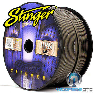 Stinger Shw516G-500 Hpm 16 Awg Gray 500 Feet Speaker Car Home Audio Cord Cable