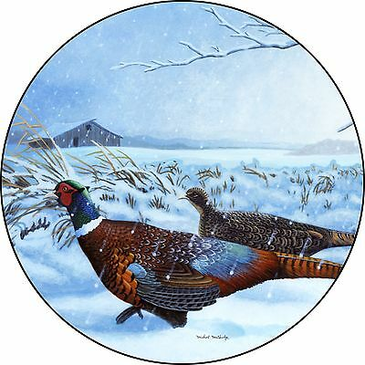 Pheasant Spare Tire Cover Wheel Cover Jeep RV Camper Trailer etc(all sizes avail