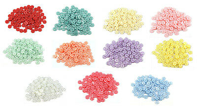 100 x Star Baby Buttons - Size 18 (11.5mm) - Choice of 11 Colours
