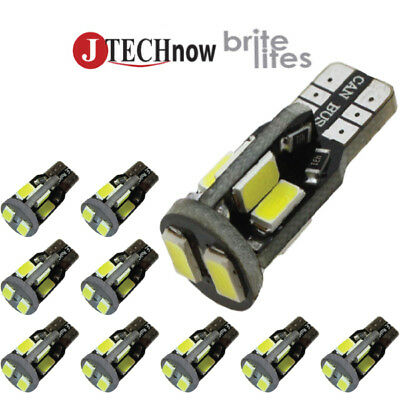 Jtech 10x CANBUS T10 10 SMD 5730 LED  Error Free Super Bright White Light Bulb