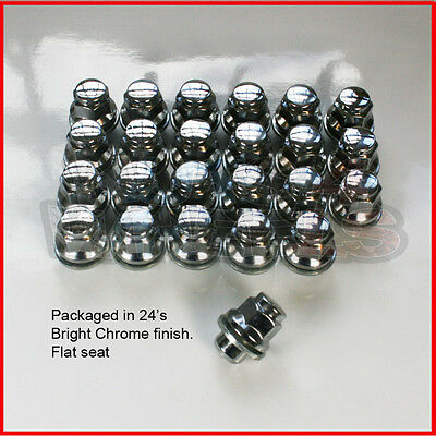 24 x Flat Seat Genuine alloy wheel nuts fits Mitsubishi L200 Shogun Pajero