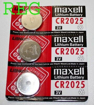 3x Pile Bouton Ronde Lithium CR2025 3V Maxell