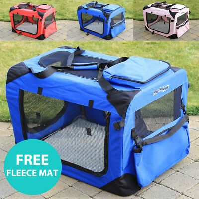 RayGar Pet Carrier Soft Crate Portable Foldable Fabric