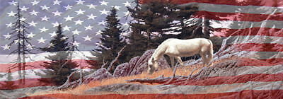 Horse And Flag -Rear Window Tint-Murals-Decals-Graphics