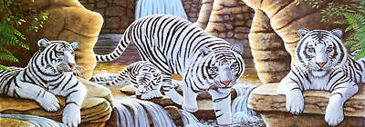 White Tiger # 3-Rear Window Tint-Murals-Decals-Graphics