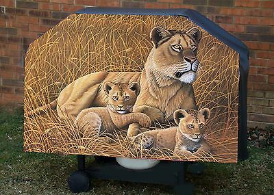 Lion # 1  -Lioness and cubs BBQ- Barbeque Gas Grill Cover