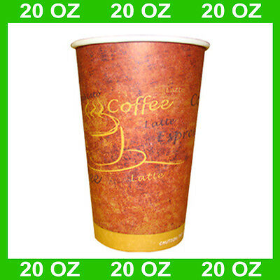 Disposable 20-oz Hot Coffee Paper Cups (Case of 600)