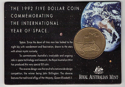 1992 $5 RAM Coin (The International Year of Space) UNC