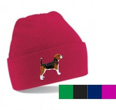 Beagle Beanie Hat Embroidered by Dogmania