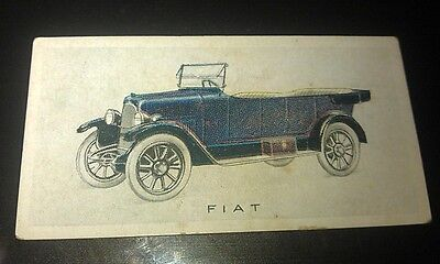 1923 FIAT 501  Orig Wills Cigarette Card New Zealand