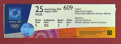 Orig.Ticket  Olympic Games ATHEN 2004  -  ATHLETICS 25.08. / 3 Final`s  !!  RARE