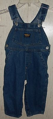 EXCELLENT Oshkosh B'gosh CARPENTER STYLE BLUE JEAN OVERALLS   SIZE 2/2T