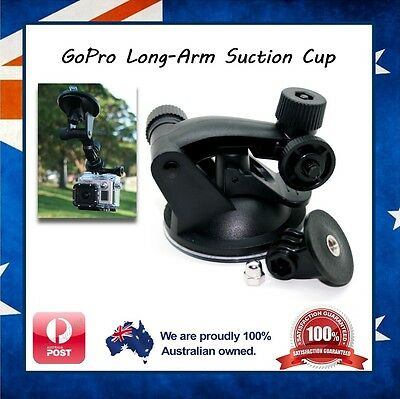 GoPro Hero 5 / 4 / Session / 3+ / 3 / 2 Suction Cup / Cap Mount Window Adhesive