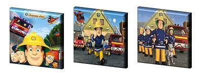 "FIREMAN SAM SET A -CANVAS PICTURES -FREE POST- 6"",8"",10"" + 12"" from £11.99"