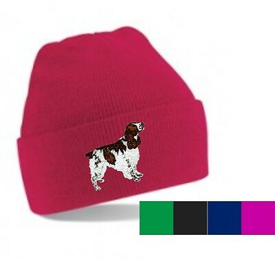 English Springer Spaniel Beanie Hat Embroidered by Dogmania