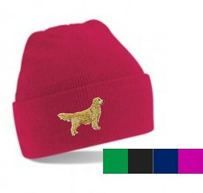 Golden Retriever Beanie Hat  Perfect Gift Embroidered by Dogmania
