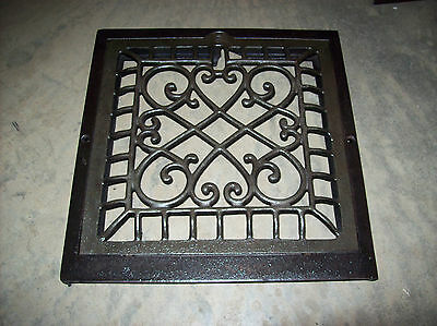 Cast iron wall mount heating grate no back plate (G 73)