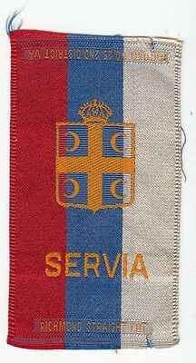 [35312] Old Tobacco Silk The Flag Of Servia (Serbia)