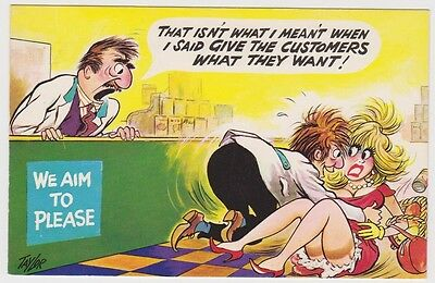 """(PC7) Heritage Comic Postcard """"What they want"""""""