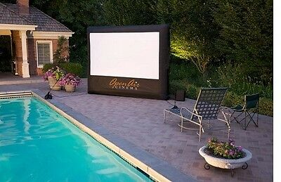 NEW Open Air Cinema H9 9' x 5'  Inflatable Home Theater Projection Screen