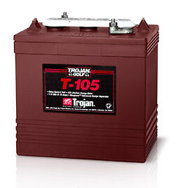 6 Volt 220ah Trojan T105 Deep Cycle Boat Battery
