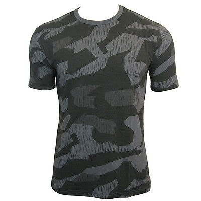 Splinter Night Pattern Camo ARMY T-SHIRT - All Sizes Camouflage Military Top New