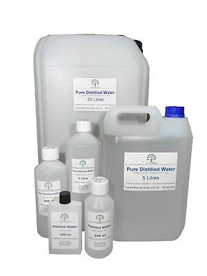 Pure Distilled Water, Various Sizes, FREE UK Shipping, Trusted UK Seller