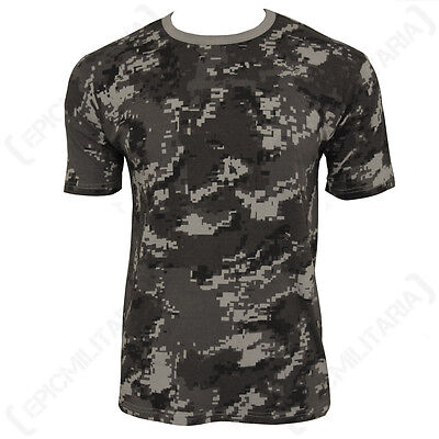 Black Digital Camo Pattern ARMY T-SHIRT - All Sizes Camouflage Military Top New