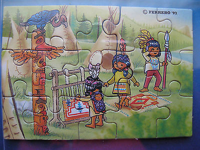 PUZZLE  INDIANER AM SCHLANGENFLUSS - INDIANI   1992 germania @@ 2