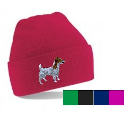 Jack Russell Terrier Beanie Hat Embroidered by Dogmania