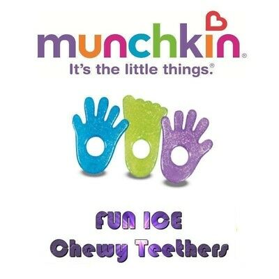Munchkin Fun Ice Chewy Teethers Refrigerate/Chill to soothe sore gums Munchkin