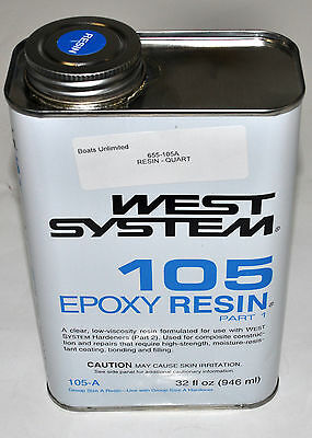 West System Epoxy Resin #105-A Quart size.