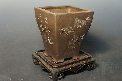 Chinese Zisha Bonsai/Orchid Pot Y18