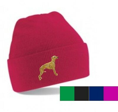 Whippet Beanie Hat Embroidered by Dogmania