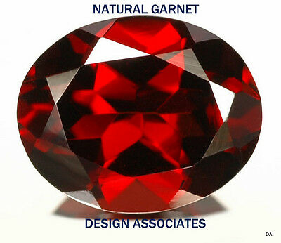 6X4 Mm Oval Red Garnet 50 Pc Value Package $9.99