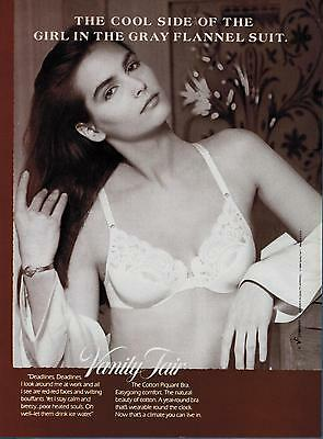 1988 VANITY FAIR   Sexy Woman   Bra  : Cool side of the girl   Print Ad