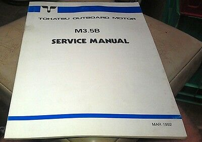 1992 TOHATSU M3.5B  Outboards Factory Service Manual