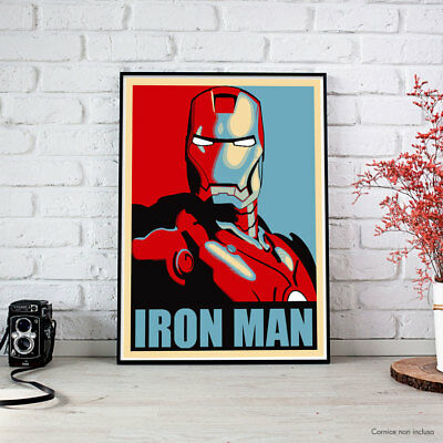 IRON MAN - Shepard Fairey - the Avengers - Maxi Poster fino a 70x100 - HQ