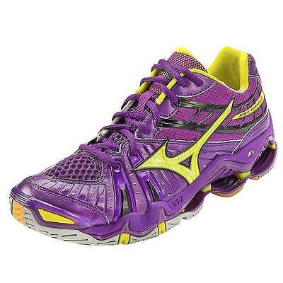 Mizuno Wave Tornado 7 Women's Volleyball Shoes NIB Purple/Yellow Various Sizes
