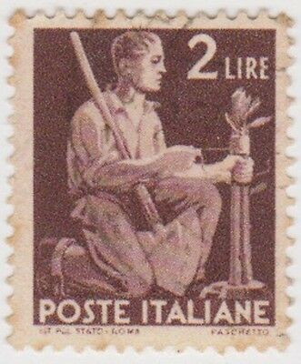 (IT314) 1945 Italy 2L brown Gardener SG656