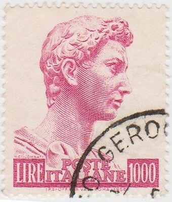 (IT489) 1957 Italy 100L red St George SG945 (A)